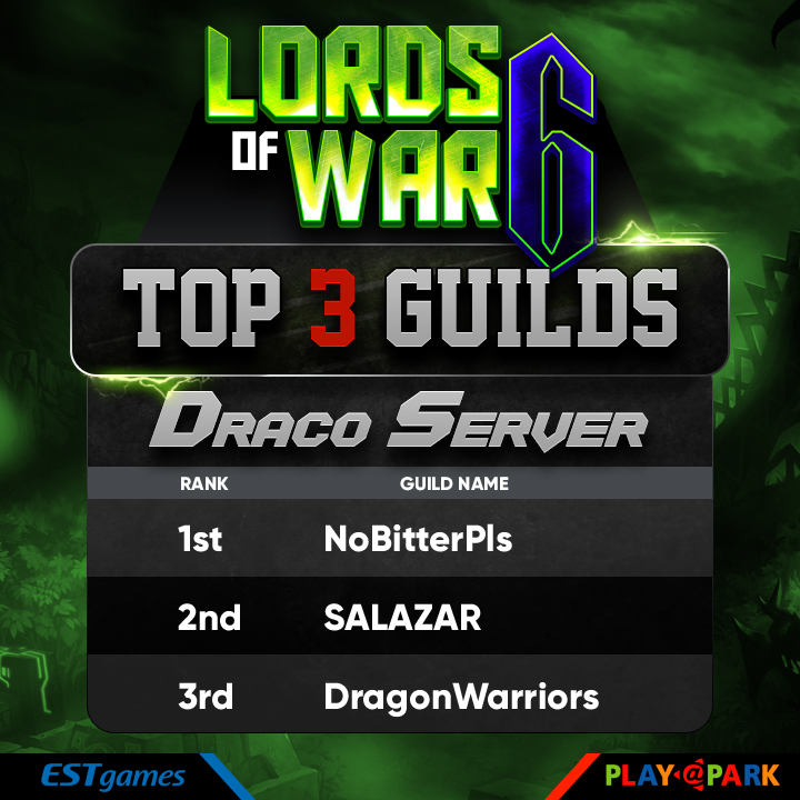 LOW Top 3 Guild Draco