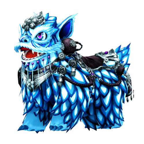 [Bike Costume] Mythical Lion (Blue)