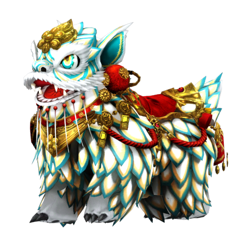 [Bike Costume] Mythical Lion (White)